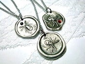 Image of Spider wax seal Necklace with Crystal of your choice