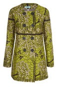 Image of Green Birds DB Coat