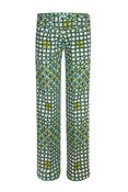 Image of Sika Flare Print Trousers Green