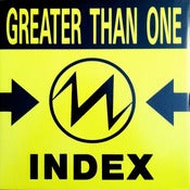 Image of GREATER THAN ONE- Index VINYL/ Original-Out Of Print