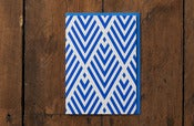 Image of Blue Pattern Card