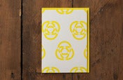Image of Yellow Pattern Card