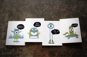 Image of Monster Greeting Cards with envelopes!