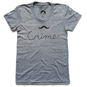 Image of Crime Moustache T-Shirt