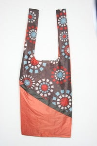 Image of Brown Flower Shoulder Bag