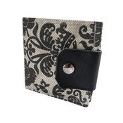 Image of Ornament ) Bifold Wallet With Snap (Plus Zipper)