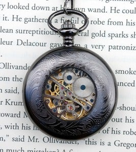 Image of Dark Skeleton Wind-Up Pocket Watch