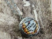 Image of Vintage Map Lockets - Oxidized Silver - Petit