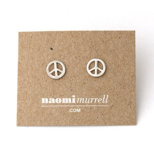Image of Peace Sign Studs | Silver {10% OFF + FREE SHIPPING}