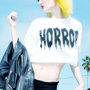 Image of HORROR CROP TOP 