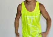 Image of TSB Neon Tennis Yellow Tank 50/50