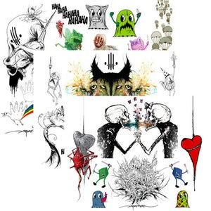 "Image of Alex Pardee - Set of 3 Giclee Prints for ""Quick & Painful"""