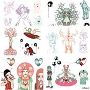 "Image of Tara McPherson - Set of 6 Giclee Prints for ""Quick and Painful"""