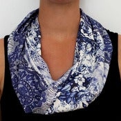 Image of Organic Cotton Knit Scarf - Lace