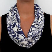 Image of Organic Cotton Knit Scarf - Deco