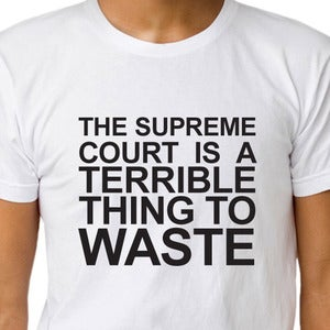 Image of THE SUPREME COURT IS A TERRIBLE THING TO WASTE T-shirt