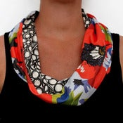 Image of Organic Cotton Knit Scarf - Poppy