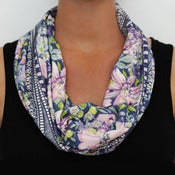 Image of Organic Cotton Knit Scarf - Blossoms