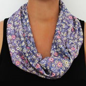 Image of Organic Cotton Knit Scarf - Ditsy