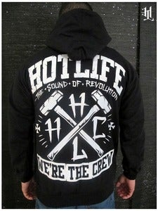 Image of *SMALL ONLY*HOTLIFE - &quot;WE'RE THE CREW&quot; HOODED SWEATSHIRT
