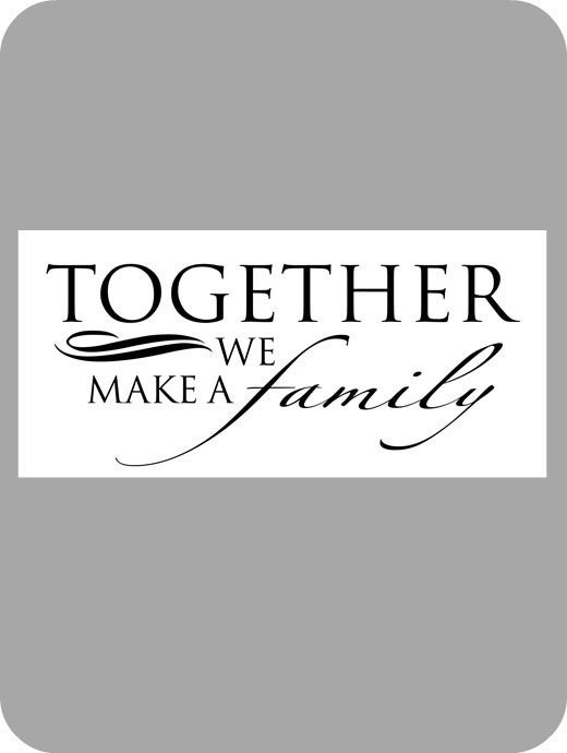 Image of Together we make a family