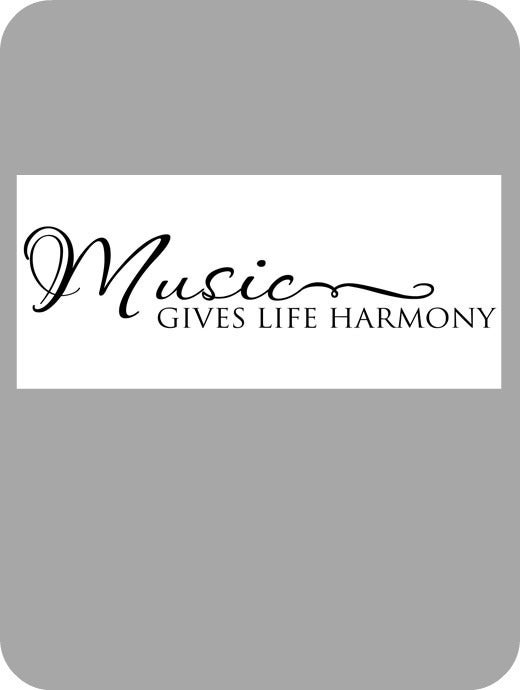 Image of Music gives life harmony