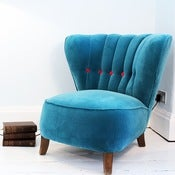 Image of Blue Velvet Armchair