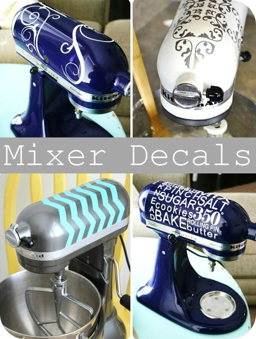 Stand Mixer Decals #Fun Kitchen Items