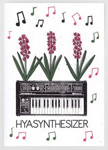 Image of Hyasynthesizer Greetings Card