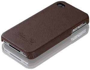 Image of Rhein Fils iPhone 4 Cover Saffiano Chocolate