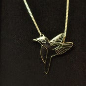 Image of Black Hummingbird Necklace