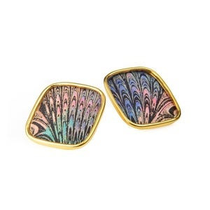 Image of Chelsea Stud Earrings - Peacock