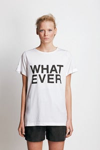 "Image of T-shirt ""WHATEVER""."