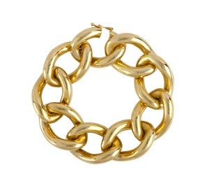 Image of Kara Ackerman <i> Elizabeth <i> Link Bracelet in Brass and Yellow Gold Plate
