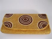 Image of By Order: Gold & Brown Circles Clutch