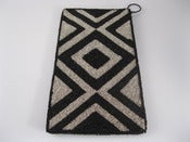 Image of By Order: Lozenge Black & Silver Clutch