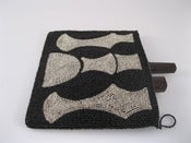 Image of By Order: Square Black &amp; Silver Clutch