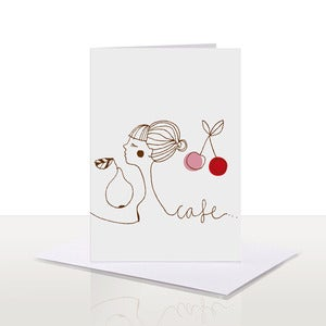 Image of Cafe Letterpress Card {50% OFF + FREE SHIPPING}