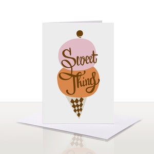 Image of Sweet Thing Note Card | 75% OFF