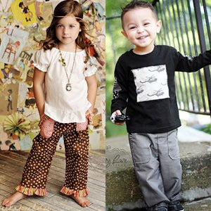 Image of Snazzy Pants Pattern - Boys and Girls Pants Pattern Size 12 months through 5 years