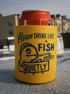 Image of Steve Powers - Beer Cozie (Drink Like a Fish)