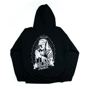 Image of Lady G Hooded Pullover Fleece in Black 