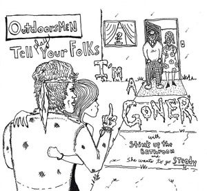 "Image of Outdoorsmen - ""Tell Your Folks... I'm a Goner"" - 7"" Single"