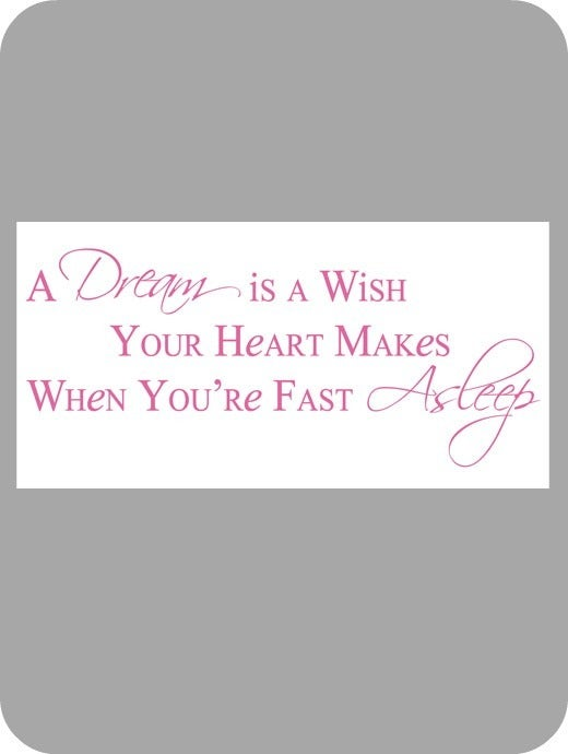 Image of A dream is a wish...