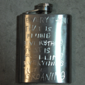 Image of Bespoke Engraved Hipflasks