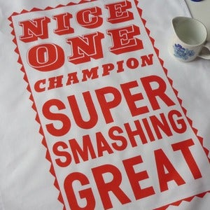 Image of Super Smashing tea towel - orange