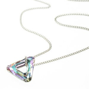 Image of Cosmic. SWAROVSKI™ Crystal Triangle Necklace