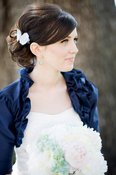 Image of Camellia Silk Ruffle Flower Bridal Shrug