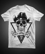 Image of Skull Cowboy WHITE