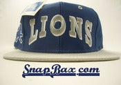 Image of VINTAGE DETROIT LIONS TWILL BLOCK GRAY SNAPBACK